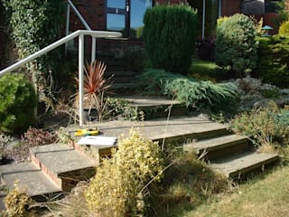 Multi level and stepped garden de Mike Bradley Garden Design
