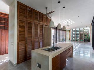 Espacio Multifunción (sala, comedor, cocina) Cocinas modernas de Taller Estilo Arquitectura Moderno