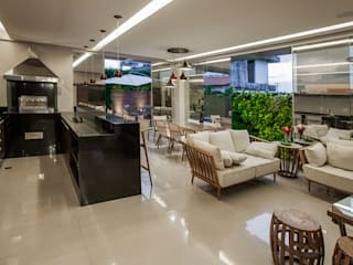 Projeto Salas de estar modernas por Heloisa Titan Arquitetura Moderno