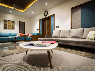 Chandresh bhai interiors Vipul Patel Architects Modern living room