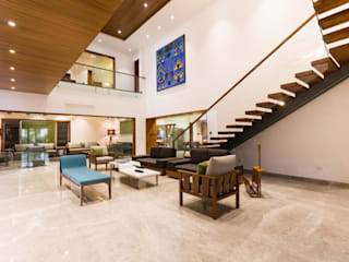 Jayesh bhai interiors Modern living room by Vipul Patel Architects Modern