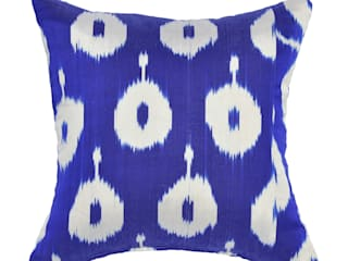 Blue Zanna Ikat Cushion:   by Nomad Design