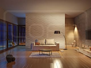 3D Decorative Panel - Loft System Design - model Hourglass Loft Design System Walls & flooringWall tattoos