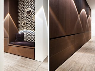 Minimalist corridor, hallway & stairs by Förstl Naturstein Minimalist Limestone