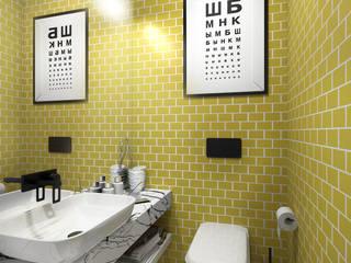 Трехкомнатная квартира для молодой семьи в современном стиле с элементами поп-арта Ванная комната в скандинавском стиле от Studio 25 Скандинавский