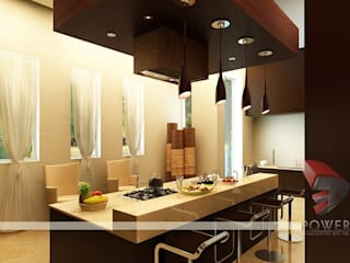 3D Power Visualization Pvt. Ltd. Modern dining room
