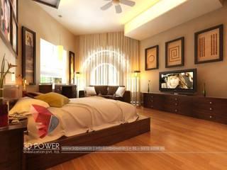 3D Power Visualization Pvt. Ltd. Modern style bedroom