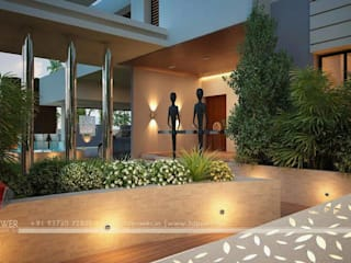 Beautiful Exteriors! Modern balcony, veranda & terrace by 3D Power Visualization Pvt. Ltd. Modern