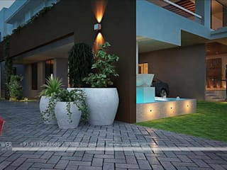 3D Power Visualization Pvt. Ltd. Balcone, Veranda & Terrazza in stile moderno