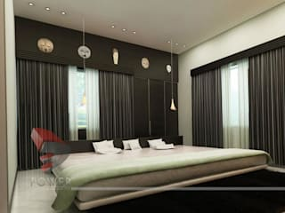 3D Power Visualization Pvt. Ltd. Camera da letto moderna