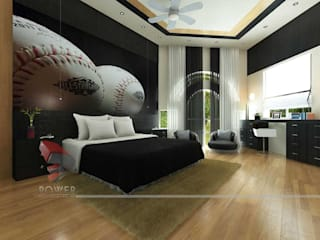 Dormitorios de estilo moderno de 3D Power Visualization Pvt. Ltd. Moderno