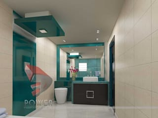 Dressing & Bathroom Interiors Modern bathroom by 3D Power Visualization Pvt. Ltd. Modern