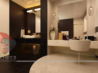 Baños modernos de 3D Power Visualization Pvt. Ltd. Moderno