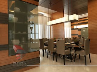 Modern Kitchen Elegant Dining Modern kitchen by 3D Power Visualization Pvt. Ltd. Modern