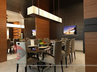 3D Power Visualization Pvt. Ltd. Sala da pranzo moderna