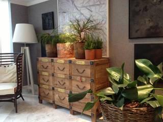 projetos: Salas de estar  por Aline Santa Rosa | Arquitetura e Interiores,