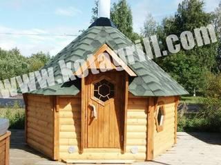Chalet et kota sauna: Spa de style  par Cholley