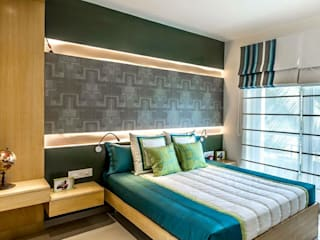 Model Apartment Modern style bedroom by Construction Associates Modern