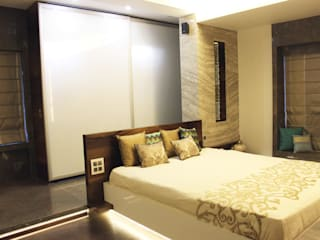 Juhu Residence The design house Modern style bedroom