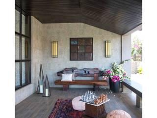 Lonavala Holiday Home Eclectic style balcony, veranda & terrace by Rakeshh Jeswaani Interior Architects Eclectic