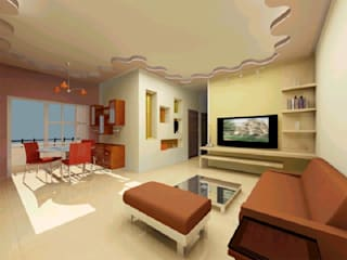 Interior projects Modern living room by VASTHU ARCHITECTS Modern