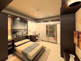 Interior Designs:  Bedroom by Newarch Design Consultants Pvt. Ltd