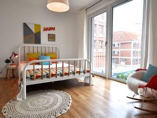 Skandynawska sypialnia od Karin Armbrust - Home Staging Skandynawski