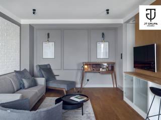 GDAŃSK - Mieszkanie wakacyjne Eklektyczny salon od JT GRUPA Eklektyczny