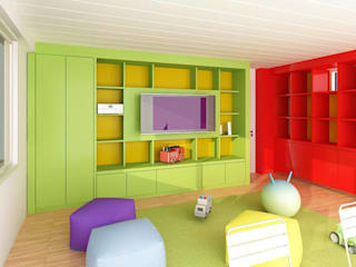 Nursery/kid's room by unoenseis Estudio, Modern