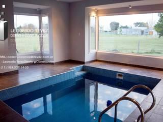 泳池 by Leonardo Tevez Diseño y Construcción , 現代風