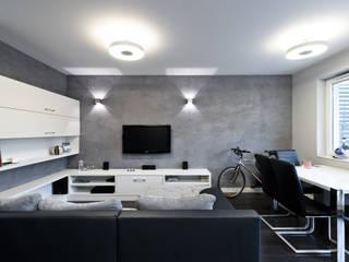 Raw Apartment: styl , w kategorii Salon zaprojektowany przez Fotografia Przemysław Turlej