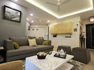 Residence Modern living room by SHUBHI SINGHAL INTERIOR DESIGN Modern