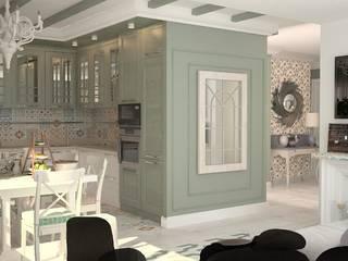 Квартира в современном провансе Кухня в средиземноморском стиле от DS Fresco Средиземноморский
