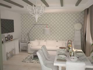 Квартира в современном провансе Гостиная в средиземноморском стиле от DS Fresco Средиземноморский