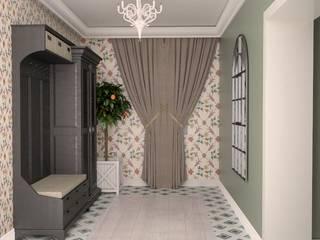 Квартира в современном провансе Коридор, прихожая и лестница в средиземноморском стиле от DS Fresco Средиземноморский