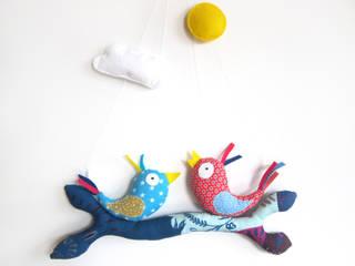 Mobile Ludique bleu et rose Piaf et Bidouille Chambre d'enfantsAccessoires & décorations Textile