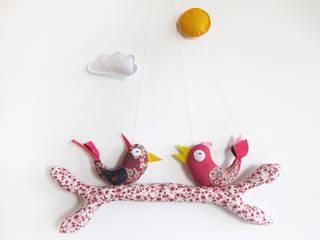Mobile ludique et original - Rose Piaf et Bidouille Chambre d'enfantsAccessoires & décorations Textile Rose