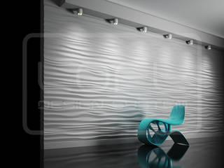 3D Decorative Panel - Loft System Design - model Ripples Loft Design System Walls & flooringWall tattoos