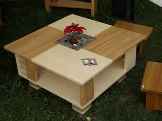 Table basse contemporaine en bois et métal par Le Meuble Autrement Moderne