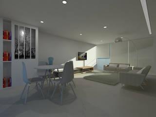 LIVING ROOM: Salas de estar  por Minimal-Line ,Minimalista