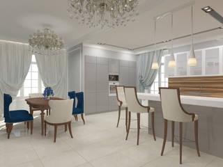 Дизайн первого этажа ИЖД Кухня в классическом стиле от Андреева Валентина Классический