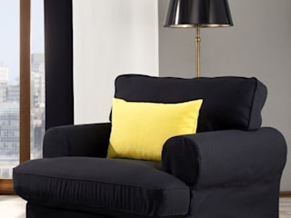 homify Living roomSofas & armchairs Textile Black