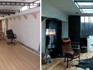 Vue de l'entrée, Avant / Après:  de style  par Elisabeth Manguin Architecte