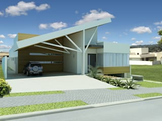 Casas estilo moderno: ideas, arquitectura e imágenes de shileon Arquitetura Moderno