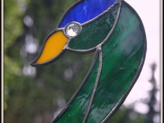 Oiseaux de verre Jardin original par Vitraux d'Art et Déco Éclectique