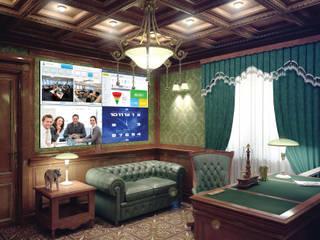 Умный дом - кабинет руководителя, видеостена. Рабочий кабинет в классическом стиле от Первая Мультимедийная компания Классический