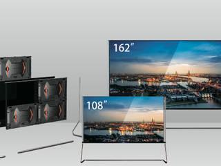 """Умный дом - модульный телевизор любого размера, каждый модуль 54"""". Гостиная в классическом стиле от Первая Мультимедийная компания Классический"""