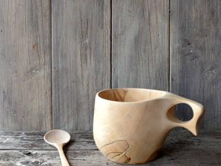 トチノキのカップとスプーン: atelier dehorsが手掛けたです。,