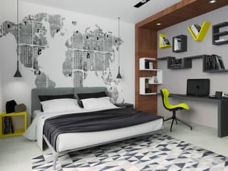 Дизайн-проект интерьера таунхауса 180 кв м в стиле минимализм.: Детские комнаты в . Автор – Мастерская архитектуры и дизайна FOX