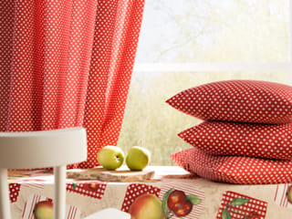 Indes Fuggerhaus Textil GmbH Windows & doors Curtains & drapes Textile Red